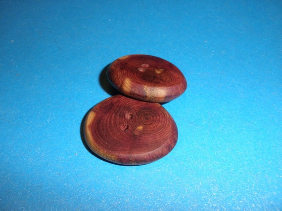 Wood Buttons 2 Red Cedar Tree Branch 2 Hole Buttons 1