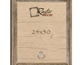 24x30 2 wide rustic barn wood signature wall frame
