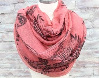 Fashion  infinity scarf   with Birds print