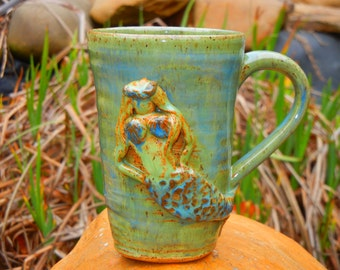 Mermaid Mug Stoneware