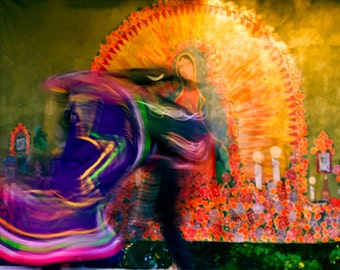 Mexican Folk Dancers Folklorico Day of the Dead Cinco De Mayo Abstract Dancers Latin Dancers Colorful Mexican Costumes Photograph Latin Art
