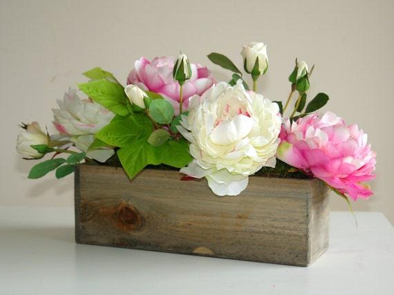 Legno scatola fiori vasi quadrati di piatto rustici fienile for Vasi di legno
