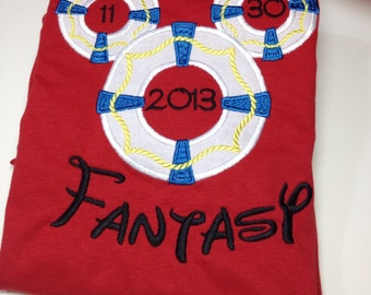 Disney Cruise - Mickey Life Preserver - Personalized - Youth