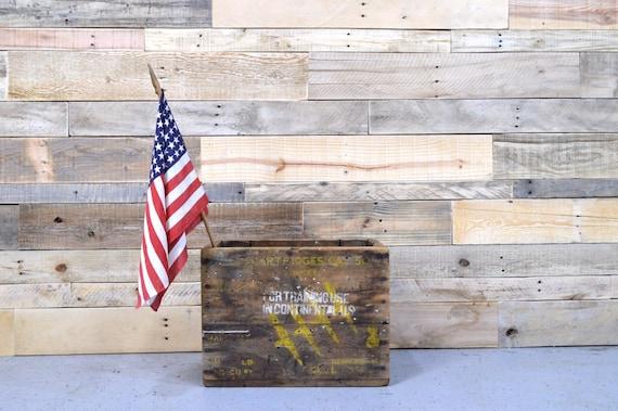 US caisse militaire en bois caisse en bois vieilli calibre