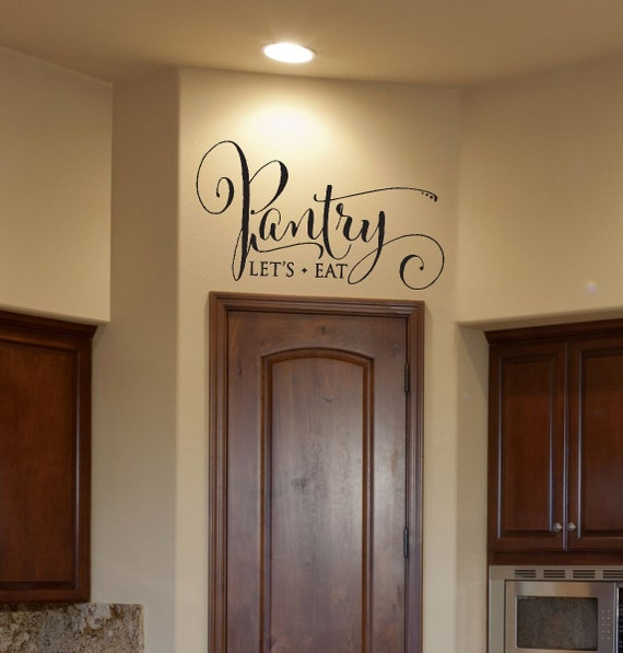 kitchen decor pantry decal pantry sign pantry wall decal. Black Bedroom Furniture Sets. Home Design Ideas