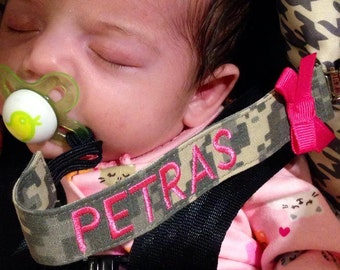 Custom Military Pacifier Clip - Army, Navy, Marines, Airforce
