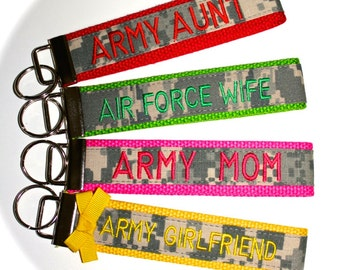 Custom Double Sided Military Wristlet - Army, Navy, Air Force & Marines