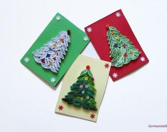 Blank Merry Christmas Cards, Christmas Tree Cards, Christmas Greeting cards, Christmas card set, Merry Christmas Card Set, Christmas Gift
