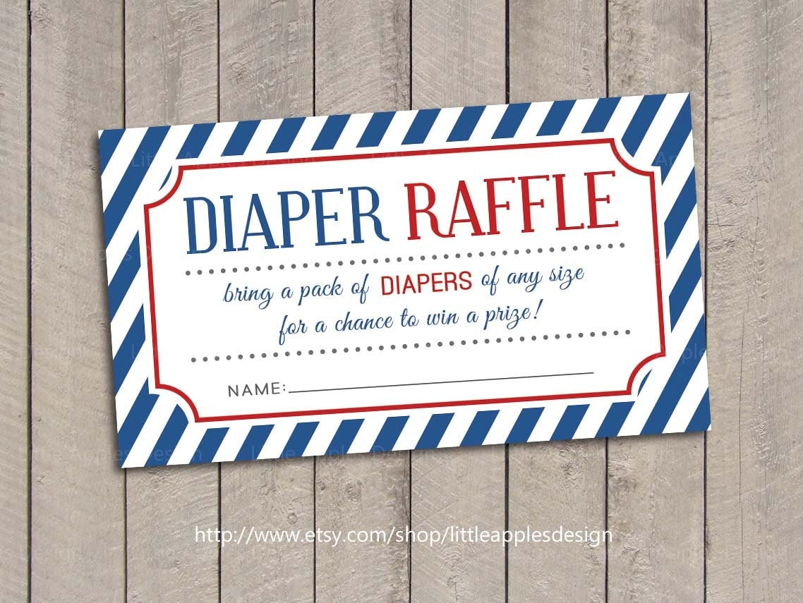 baby shower diaper raffle tickets blue baby shower diaper