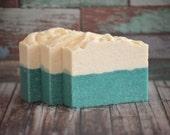 Sea Salt Agave Lime Soap, Salt Bar, Summer Soap, Palm Free Soap, Homemade Soap, Handmade Soap, Scented Soap, Luxury Soap, Mint Artisan Soap