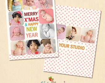 INSTANT DOWNLOAD 5x7 Multipurpose Card Photoshop Template - CA304