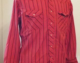 Vintage Long Sleeve Western Snap Shirt by Wrangler