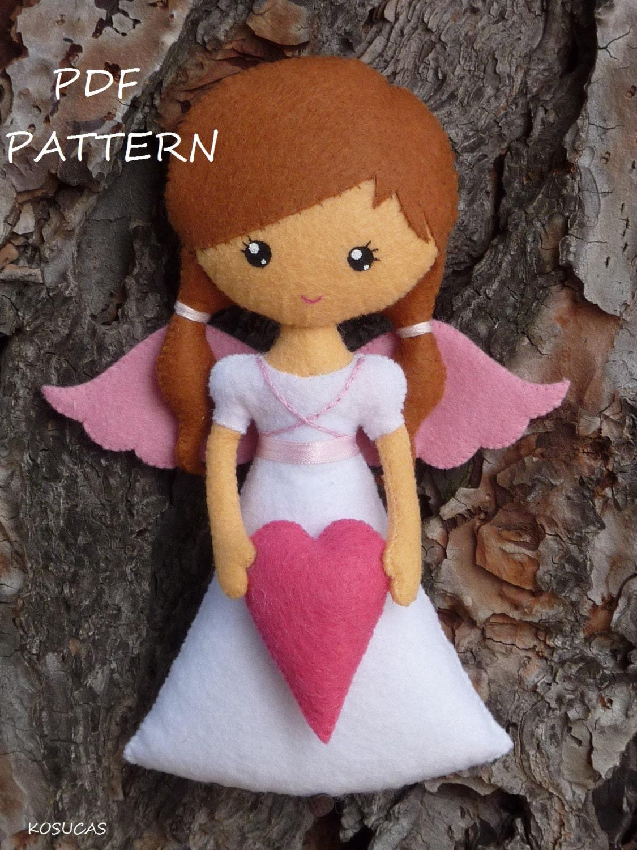 Pdf Sewing Pattern To Make Felt Angel From Kosucas On