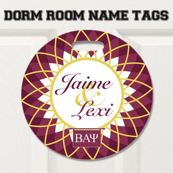 Items similar to Sorority, Dorm room name tags, door sign  ~ 233411_Dorm Room Name Tag Ideas