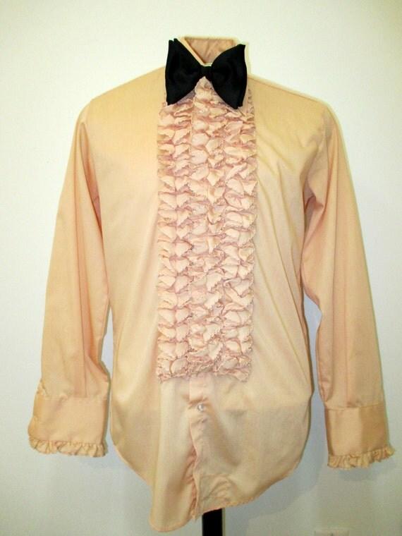 Ruffled Tuxedo Shirt uk 70s Ruffled Tuxedo Shirt