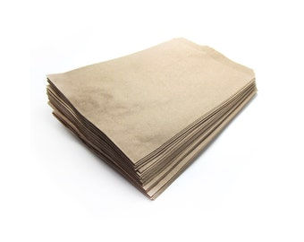 "50 KRAFT 5"" x 7"" paper bags, Eco Friendly Biodegradable Concious Choice, Simple Packaging"