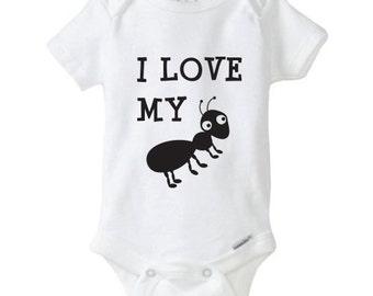 I Love My Aunt Funny Baby Bodysuit