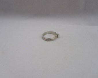 Sterling Silver Etched Screw Band Ring size 7