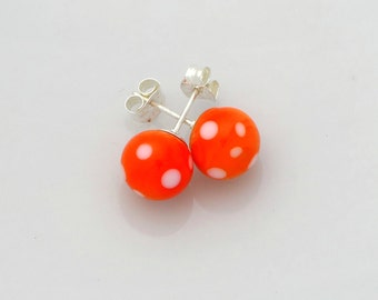 Orange Lampwork earrings