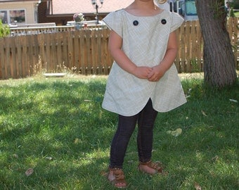 Overlapping Front Layered Tunic