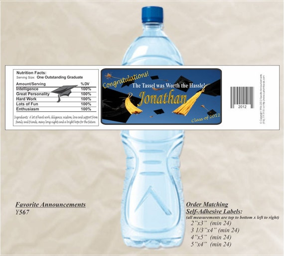 It's just a picture of Old Fashioned Graduation Water Bottle Labels