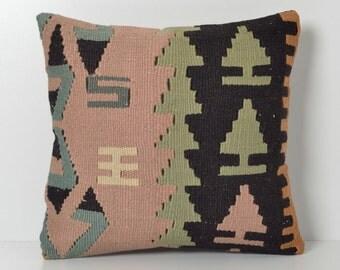 Kilim Pillow Cover - Vintage Tribal Ethnic Handwoven Kilim Pillow Case Modern Bohemian Home Decor Kilim Cushion Throw Pillow