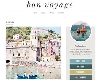 Wordpress Theme - Responsive Modern Design Travel Blog - Bon Voyage