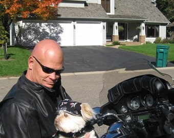 Doo Rag for Dogs - Dog Doo Rag - Dog Biker Wear - Motorcycle Dogs - Biker Dogs - Biker Dog Outfits - Motorcycle Dog Outfits - Dogs on Bikes