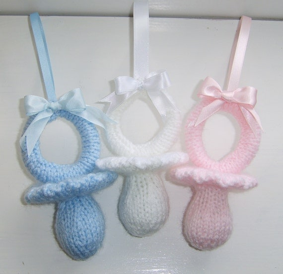 Knitting Patterns For Dummies Download : KNITTING PATTERN Dummy / Soother Pram Charm Knitting