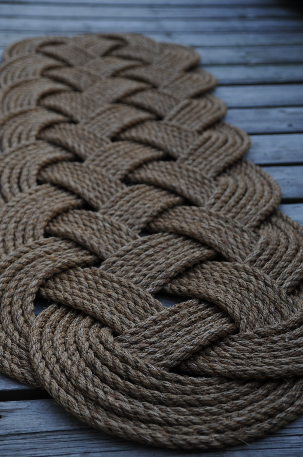 Larger rope rug nautical decor nautical rope rug patio for Rope carpet