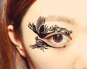 Temporary Tattoo Eyeshadow waterproof Phoenix Bird Masquerade mask cosplay victorian party mardi gras halloween makeup costume accessories