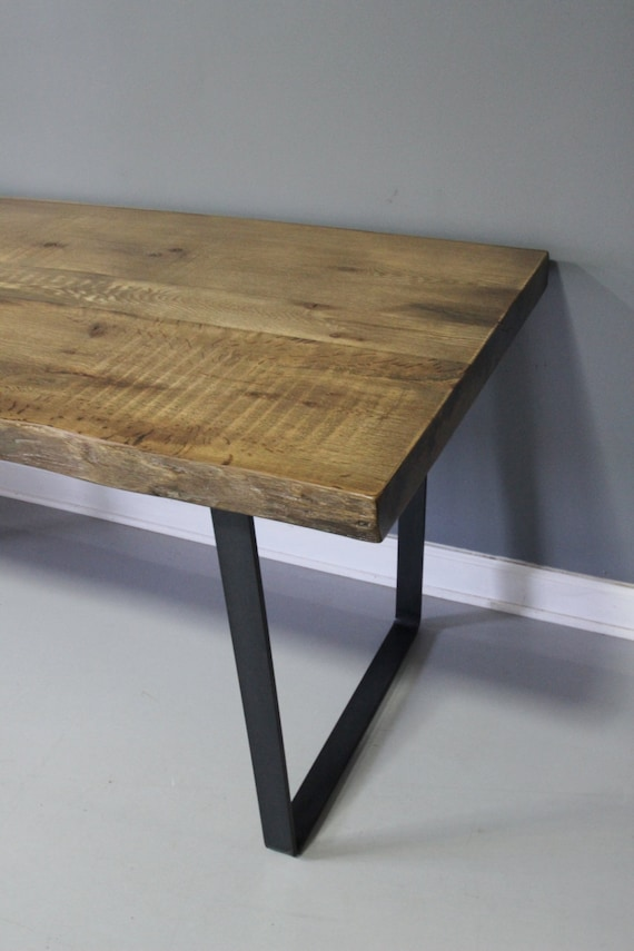 Reclaimed Wood Dining Table Solid Industrial Rustic by  : il570xN61864104737qp from www.etsy.com size 570 x 855 jpeg 58kB