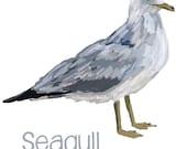 Seagull - Original art download 2 files, seagull printable, seagull clip art