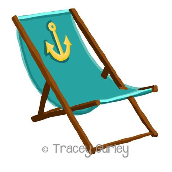 Liegestuhl mit sonnenschirm clipart  Türkis Strandkorb mit Anker mit und ohne Sand