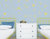 Yellow little stars Wall Decal Vinyl Sticker-Little yellow nursery Stars Vinyl WallStickers–Kids stars wall stickers -Yellow summer stars