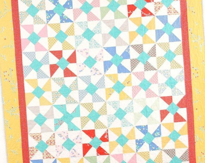 Swirly Pop Quilt Pattern #114 by Cluck Cluck Sew - Charm Pack Friendly - Super Fast Beginner