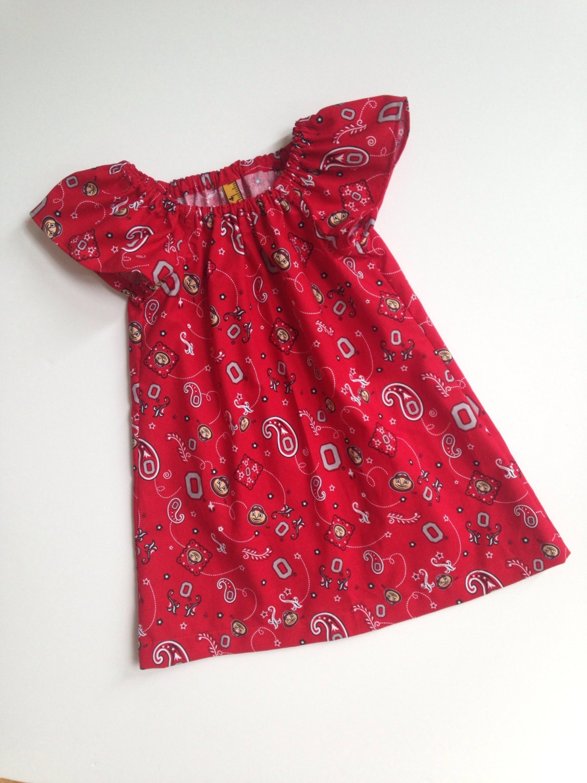 Ohio State Peasant Dress Osu Dress Osu Girls Buckeye Baby