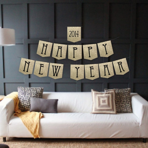 Instant Download - Happy New Year Banner - New Year's Eve Banner - New Year's Banner - DIY Printable Banner
