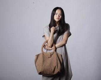 Brown Leather Handbag, Shoulder Bag, Slouchy Purse, Shoulder Purse, Tote Purse, Brown Leather Tote, Brown Tote Bag, Gift for Her  - Nina bag