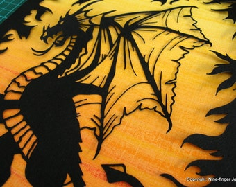 Papercut Art, Paper Cut Art, Paper Cutting Art, Paper Cut Out, Wall Art, Pictures, Papercut, Paper Cut, Papercutting, Paper Cutting, Dragon