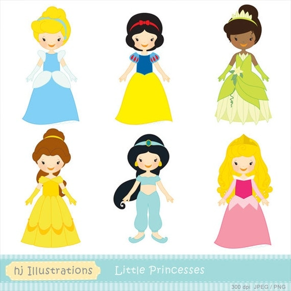 Items similar to Little Princess digital clipart, Princess ...
