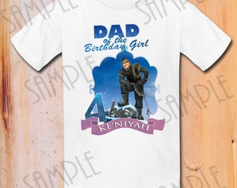 T-shirt Disney FROZEN Iron On Transfer Printable Dad of the Birthday Girl Kristoff digital download Personalized DIY Frozen Birthday shirt
