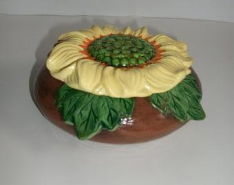 Ceramic Sunflower Bowl