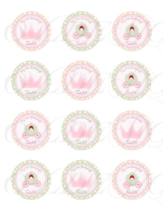 Items similar to Princess Cupcake Topper - princess ...