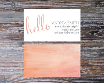 Watercolor Business Card, 3.5 x 2 inch, Personal Card