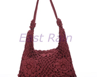 crochet bag crochet flower handmade crochet handbag tote purse shoulder bag fall fashion mom gift party bag new year personalized baag adult