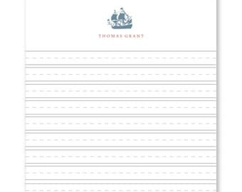 Personalized Skip-A-Line Ruled Notebook Paper, Ship