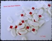 10 PC Nurse Caps Hat Nursing Medical Health Resin Flatback Cabochons 1.5cm Scrapbooking HairBows Parties