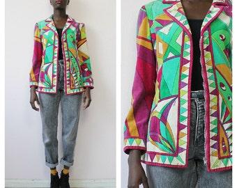 Vintage Emilio Pucci Abstract Jacket