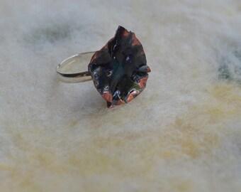 Ring of wrinkled copper